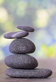 Stack of pebble stones. In nature royalty free stock photo