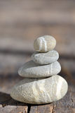 Stack of pebble stones Royalty Free Stock Photos