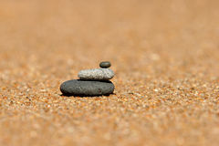 Stack of pebbles royalty free stock images