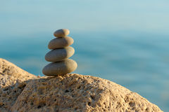 Stack of pebbles Stock Photography