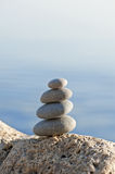 Stack of pebbles Royalty Free Stock Photos