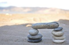 A stack of pebbles, arch shape, zen concept Stock Photos