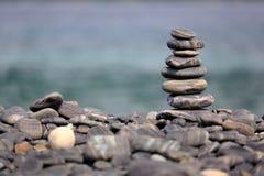 Stack of pebbles on beach, Koh Hin Ngam, Andaman Sea, in Tarutao Royalty Free Stock Image