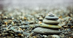 Stack Pebbles on the Ground Stock Photography