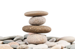 Stack of pebbles isolated Royalty Free Stock Photography