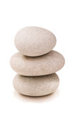 Stack of pebbles isolated Royalty Free Stock Images