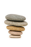 Stack of pebbles isolated Stock Image