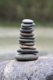 Stack of pebbles Royalty Free Stock Photo