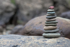 Stack of pebbles Stock Images