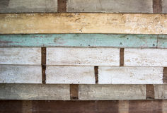Stack of peel color wood as texture Stock Photos