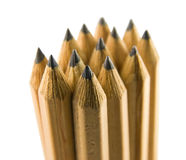 Stack of pencil. Stand up on white background Royalty Free Stock Image
