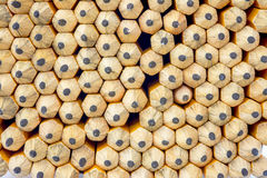 Stack of pencils with points forming a pattern Royalty Free Stock Photography