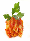 Stack of penne pasta Royalty Free Stock Images