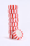 Stack of Peppermint Candies Stock Photo
