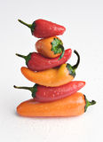 Stack of peppers Royalty Free Stock Images
