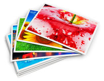 Stack of photo cards Royalty Free Stock Photos