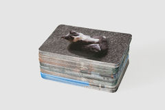 Stack of photo cards Stock Images