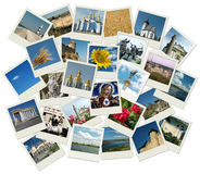 Stack of photo shots with Ukrainian landmarks Royalty Free Stock Photography