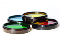 Stack of photographic filters Royalty Free Stock Photos