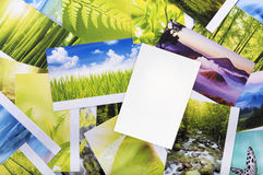 Stack of photos Royalty Free Stock Photos