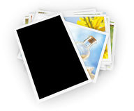 Stack of photos Stock Images