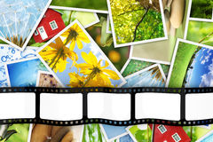 Stack of photos and film Stock Photo