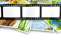 Stack of photos and film Stock Image