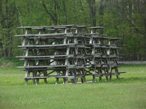 Stack of Picnic Tables Stock Photography