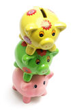 Stack of Piggy Banks Royalty Free Stock Images