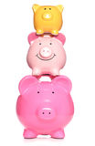 Stack of piggy banks Royalty Free Stock Image