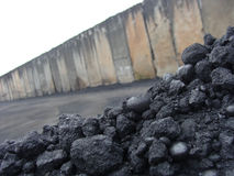 Stack pile of charcoal Stock Images