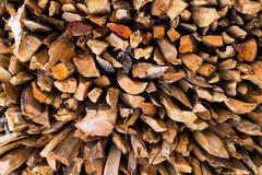 Stack pile of chopped wood abstract background Royalty Free Stock Photos