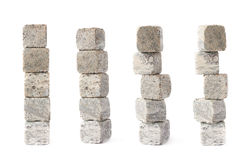 Stack pile of cooling whiskey stones isolated Royalty Free Stock Image