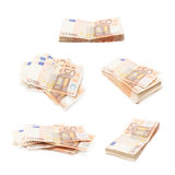 Stack pile of fifty euro bank notes Stock Photography
