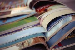 Stack pile of magazines Royalty Free Stock Image
