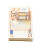 Stack pile of money Royalty Free Stock Photos