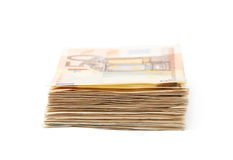 Stack pile of money Stock Image