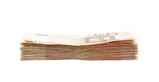 Stack pile of money Royalty Free Stock Photo