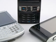 Stack Pile of Several Modern Mobile Phones PDA Royalty Free Stock Image