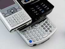 Stack Pile of Several Modern Mobile Phones PDA Royalty Free Stock Photo