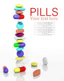 Stack of pills Royalty Free Stock Image