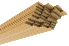 A stack of pine boards Royalty Free Stock Image