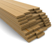 A stack of pine boards Stock Photos