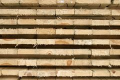 Stack of pine boards Royalty Free Stock Image