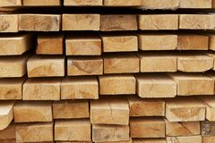 Stack of pine boards Stock Photography