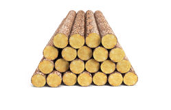 Stack of pine logs Royalty Free Stock Photography