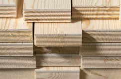 Stack of pine wood planks Stock Photos
