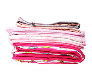 Stack of pink blankets for baby girl Royalty Free Stock Images