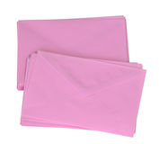 Stack of pink envelop Royalty Free Stock Photography