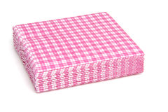 Stack of pink napkins Stock Images